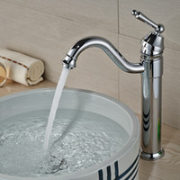 baisn faucets - Polished Chrome Brass Bathroom Baisn Faucet Swivel Spout Vanity Sink Mixer Tap Deck Mounted Hot and Cold