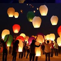 bi color - Different color Sky Lanterns Wishing Lantern fire balloon Chinese Kongming lantern Wishing Lamp for BI CHR