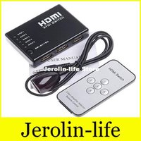 Wholesale Hdmi Switcher in out remote hdmi splitter h SanJin a high definition remote opening switch