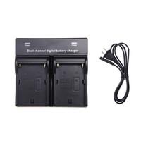 Wholesale 2014 Dual AC DC Digital Battery Charger for SONY NP F970 F750 F960 QM91D FM50 FM500H FM55H Battery Camera Black