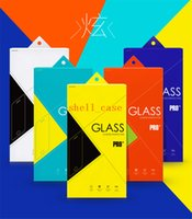 Wholesale Christmas iphone6 Colorful Tempered Glass Screen Protector Retail Package Box for Cell Phone Accessiores Samsung Galaxy Note4 iphone PLUS