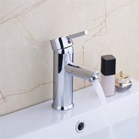 Wholesale Hot Sale Excellent Quality Modern Bathroom Basin Sink Mixer Tap Brass Chrome Faucet Single Handle Hot Cold Water