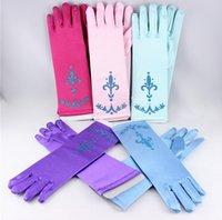 Wholesale 150pcs new arrive elsa gloves for kids adults elsa ornaments elsa coronation cosplay gloves long blue gloves snow queen elsa colors D103