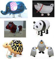 balloon panda - Inch Walking animal balloons walking pet balloons D elephant panda zebra tiger duck foil ballons Party toys children toys