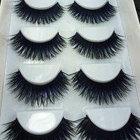 Wholesale box Pairs Black Blue False Eyelashes Smoked Stage Makeup Tools Long Fake Eye Lashes Natural Thick False Eye Lashes