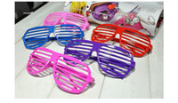Wholesale SHADE HIP HOP Colorful Cheap Beach Christmas Party Glasses Cool Funky Novelty Glasses Shutter Plastic Party Sunglasses Club Props Pop