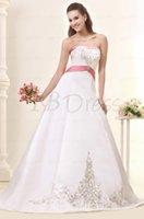 empire waist - 2015 New Wedding Dresses Bridal Gowns Empire Waist White Maternity Destination Vintage Winter Strapless Neckline Sash Custom Made Sale