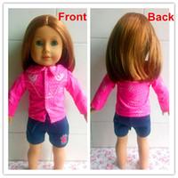 Gros-Haute Qualité Cheap Veste rose Fit pour le 18 pouces poupée American Girl, Poupée Accessoires, Filles meilleur cadeau, livraison gratuite