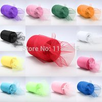 Wholesale Pick Color Matt Tulle Roll Spool inch x yard inch x ft Tutu Wedding Gift Party Bow D Banquet Decoration Free Ship