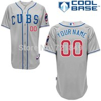 baseball jersey store - 2016 New Custom Chicago Cubs Authentic Personalized New Cool Base white gray blue Baseball Jersey custom store
