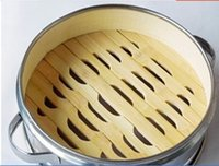 bamboo food steamers - ear with a stainless steel edge bamboo steamer steamed buns durable household food steamer kitchen tool