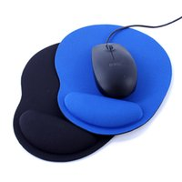Wholesale Cloth cover rubber Wrist Rests mouse pad Mouse Pad Comfort Wrist Fabric Thicken Support For Optical Trackball Mat Mice Pad