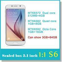 Wholesale Sealed box inch S6 octa Core MTK6592 Cell Phone Show G64GB MP Android G9200 Show Smart phone