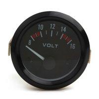 auto volt meter - Universal Voltmeter Gauge Meter V Racing Car inch volt Gauge Volts Gauge Meter mm Auto Gauge Instrument CEC_541