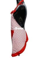 Wholesale New Arrive Delicate Cute BowKnot Kitchen Restaurant Cooking Aprons With Pocket for Women