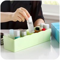 plastic storage box - Home home Colorful plastic stackable drawers small things sorting box five grid socks underwear storage box K3305