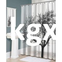 Wholesale Details about Stylish Black Scenery Tree Design Bathroom Waterproof Fabric Shower Curtain G9 D504