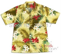 aloha shorts - yellow printed new arrival Cotton Aloha Shirt Short Sleeved shirt hawaiian shirt