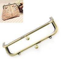 purse clasp - 2PCs Metal Purse Bag Frame Kiss Clasp Lock Bronze Tone cm x8cm B31729