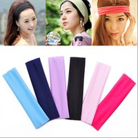 accessories yoga wear - Cheap Hair Band Best for yoga sports Polyester women elastic headbands Wear Yoga Decoration hair accessories WG8