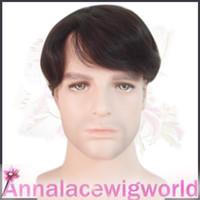 Wholesale natural human hair toupee for men