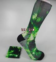 Wholesale 3D Herb Trainer Socks pot football socks Knee socks Plantlife Pot hemp Leaf Athletic Socks D Digital Photo pairs
