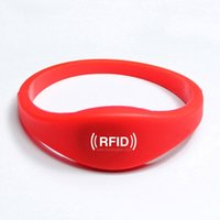RFID Access Control - high quality waterproof silicone RFID wristband RFID Bracelet with M1 S50 RFID Smart Card NFC Tag for access control