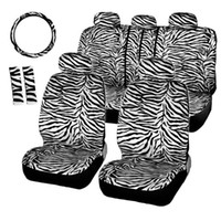 Wholesale AUTOYOUTH Short Floss Fabric White Zebra Seat Covers Set Universal Fit Most Car Seats Free Steering Wheel Cover Shoulder Pad order lt no t