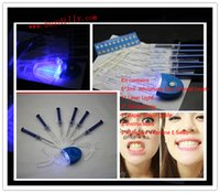 Cheap 30Packs lot Teeth Whitening Bleaching Kit 6Pcs 44% 3ml Whitening Gel+2 Mouth Trays+1 LED Light+1 shade guide+2 VE Swab MY362