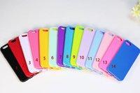 TPU Téléphone Case Matte Peau Bumper Frame Back Cover Candy Couleur Soft Mobile Phone Cases Pour iphone 6S Iphone 6 / 6S iphone 6plus