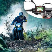 audi nav - 4 inch Touch Screen Car Motorcycle GPS Navigator Navigation NAV Bluetooth Connect Internal GPS GB IPX7 Waterproof
