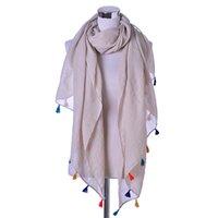 Wholesale Beautiful Fashion Bohemian Style Winter Scarf Women Tassel Shawl Scarves Wrap bufandas cachecol feminino Voile Scarf AL S255