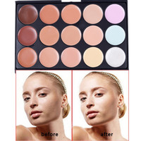 best foundation acne - 15 Color Concealer Foundation Powder For Eyes Face Black Eye Acne Natural And Lasting Color Women Best Gifs
