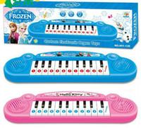 al por mayor music keyboard instrument-Instrumentos musicales de juguete para niños Frozen Chica juguete electrónico de la historieta del bebé del teclado del piano electrónico con juguete Música 8 Canción Educativa