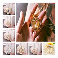potter - Fashion jewelry harry potter necklace time turner elements pendants necklace special lanyards dainty harry potter glass pendants