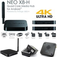Wholesale MINIX NEO X8 H Android TV Box Amlogic K Video S802 H Quad Core GHz G G G GHz WiFi XBMC IPTV Play Free M1 Remote M1 Remote