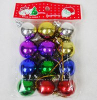 Wholesale Christmas light ball Christmas Tree Ornament electroplating ball cm Hotel Christmas ornaments