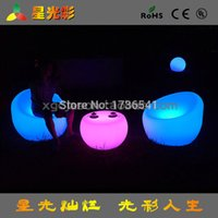 Wholesale European minimalist chairs outdoor LED light emitting large plastic chairs colorful color