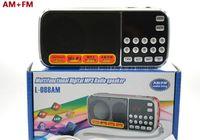 al por mayor altavoz recargable-L-088AM doble banda recargable portátil mini bolsillo digital AM FM altavoz de radio con puerto USB TF micro ranura para tarjeta SD
