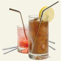 Wholesale hot selling Metal Drinking Straw Stainless Steel Bend Drinking Straw Beer and Fruit Juice Straws