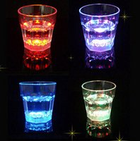 Wholesale Christmas party Bar Drinkware ml LED Flashing Cup LED light cup shot Glass Plastic beer mugs