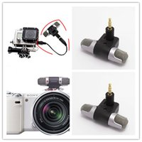 Wholesale Professional Mini Microphone GoPro Fitting Camera Electret Reliable Electret Condenser Recorder High Quality On Digital Media Small Size And