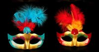 ball dust - Masks Princess gold dust feather mask fluffy feathers Halloween costume ball masquerade Party mask gifts DHL