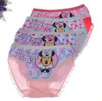 baby underwears - best selling Minnie Kids briefs Children Underwear Baby Cartoon Mickey Bowknot Floral Underwears Girls Cotton Boxer Briefs
