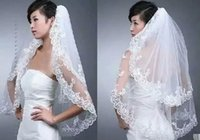 Wholesale 2015 Cheapest Two Layer Wedding Veils Real Garden Veils Shoulder Length With Comb High Quality White Veils for Wedding