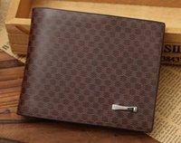 Wholesale 2015 Male Genuine Leather luxury wallet Casual Short designer Card holder Zipper pocket Fashion Purse wallets for men