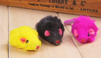 artificial cat tails - Cat toy mouse Long tail fur mice Cat products for cats Artificial fur Size Cm newest