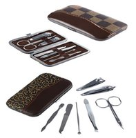 Wholesale New Arrivals Set Nail Clipper Manicure Tools Kits Beauty Care Stainless Steel JH24
