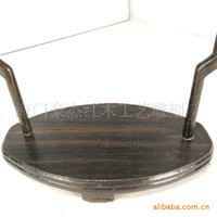 Wholesale Two sets of black sticks of wood hanging racks hanging jade jade jade hanging rack mahogany frame manufacturers