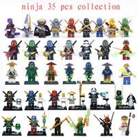 Wholesale 35pcs Ninja Minifigures Wu Morro Ronin Ghoultar Cowler Acher Building blocks as Christmas gift for kids collection